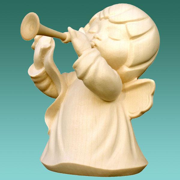 che regali gmbh engel mit trompete 10cm natur. Black Bedroom Furniture Sets. Home Design Ideas