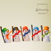 Schneemann 4,5cm orange
