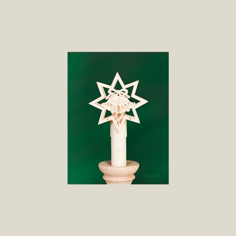 tietze aufstecker stern mit glocke klein geschenkestube seiffen. Black Bedroom Furniture Sets. Home Design Ideas